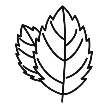 Mint leaf icon, outline style
