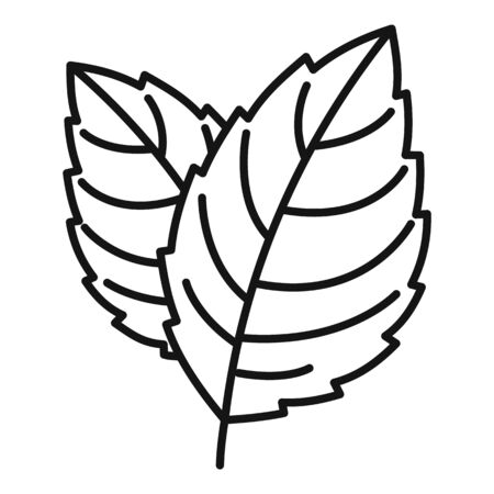 Peppermint icon, outline style Illusztráció