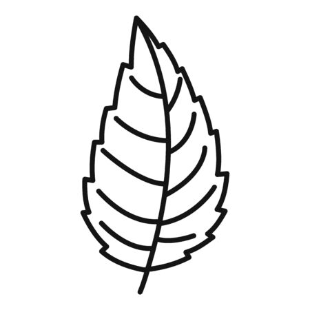 Natural mint leaf icon, outline style