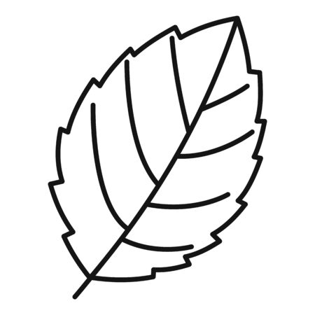 Mint leaf plant icon, outline style