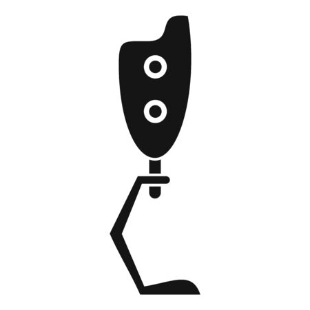 Biotechnology leg icon, simple style
