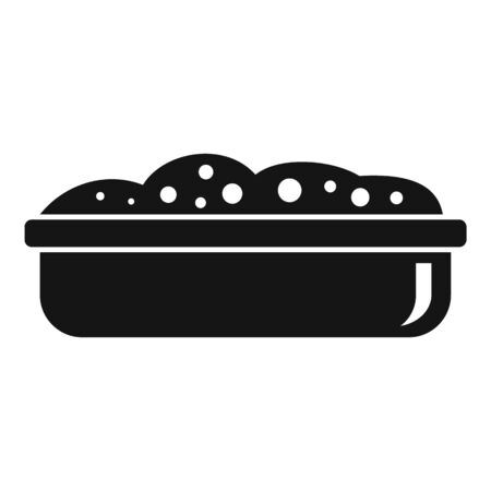 Soil pot icon, simple style
