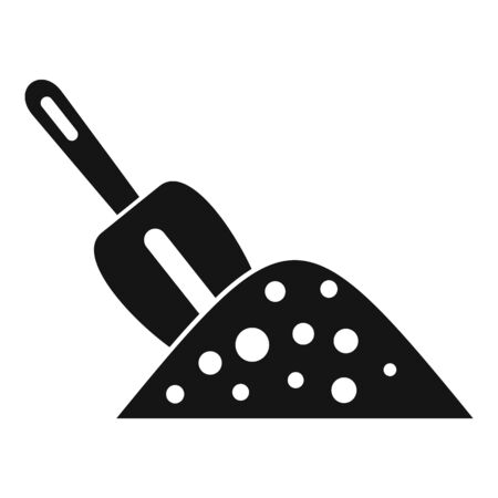 Hand shovel soil icon, simple style