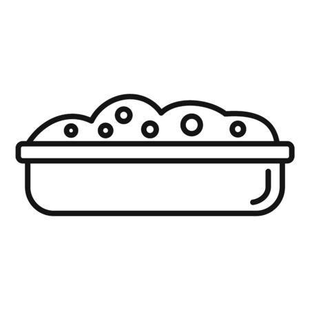 Soil pot icon, outline style