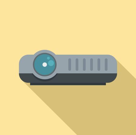 Modern projector icon, flat style