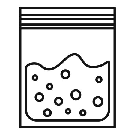 Test soil package icon, outline style