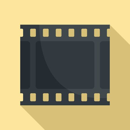 Film picture icon, flat style Vectores