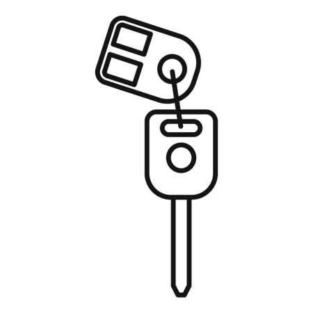 Car alarm system icon, outline style Ilustrace