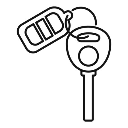 Auto alarm key icon, outline style Vecteurs