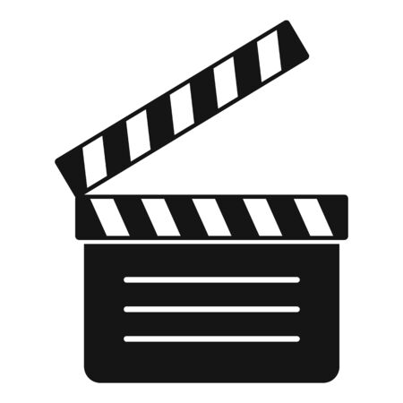 Film clapper icon, simple style 向量圖像