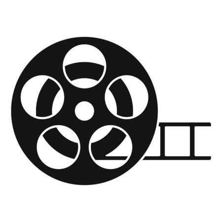 Cinema reel icon, simple style
