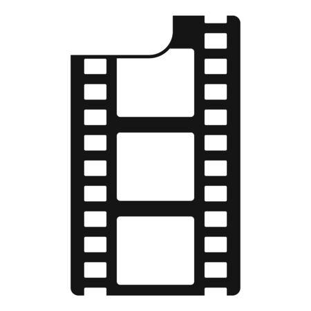 Film icon, simple style