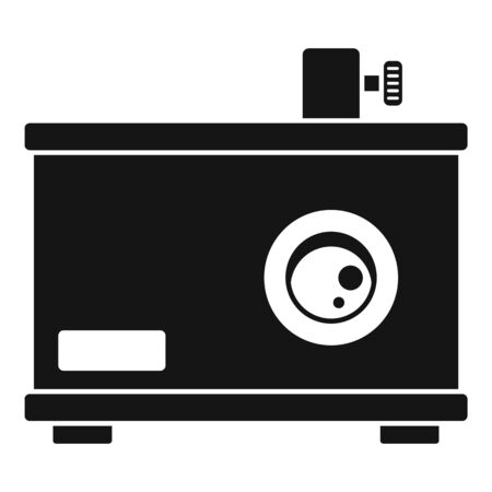 Old film projector icon, simple style