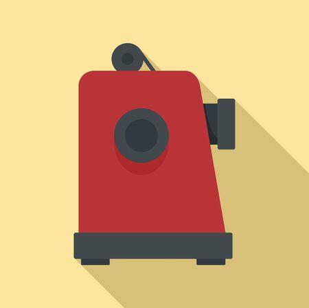 Film projector icon, flat style Illusztráció