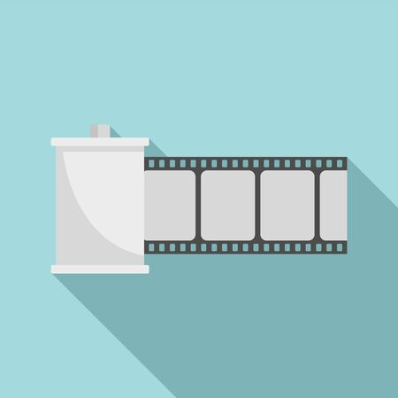 Film roll icon, flat style Illusztráció