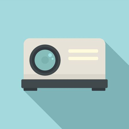 Projector icon, flat style
