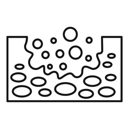 Soil ground icon, outline style