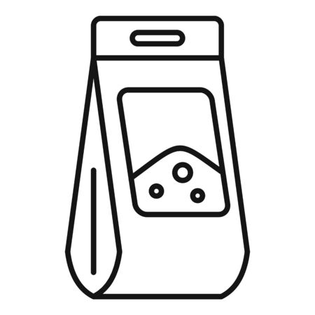 Soil package icon, outline style
