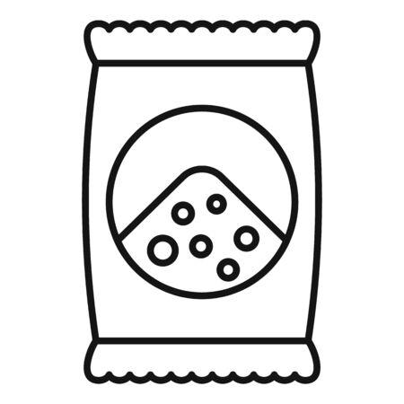 Soil bag icon, outline style