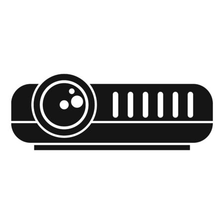 Modern projector icon, simple style