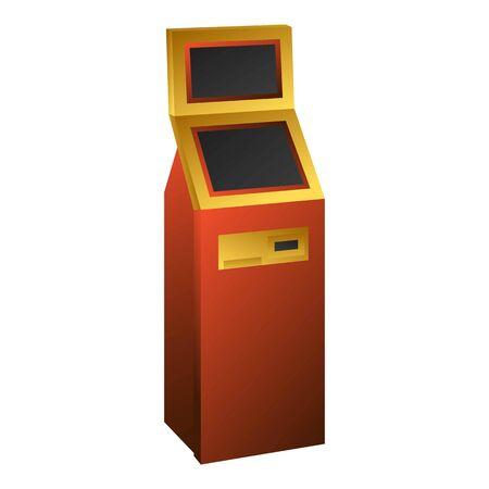 Kiosk icon, cartoon style