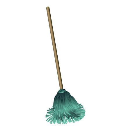 Dust mop icon. Cartoon of dust mop vector icon for web design isolated on white background Иллюстрация
