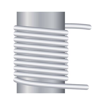 Equipment coil icon, cartoon style
