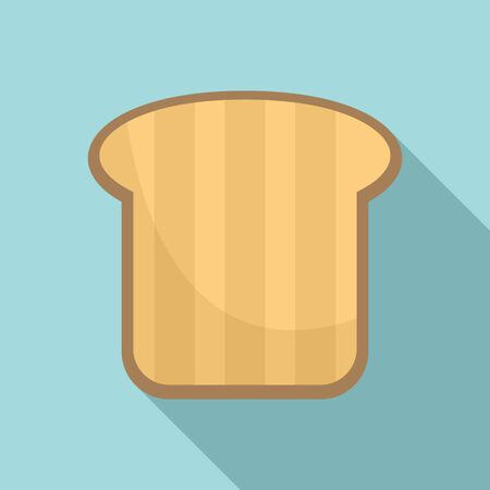 Nutrition toast icon. Flat illustration of nutrition toast vector icon for web design
