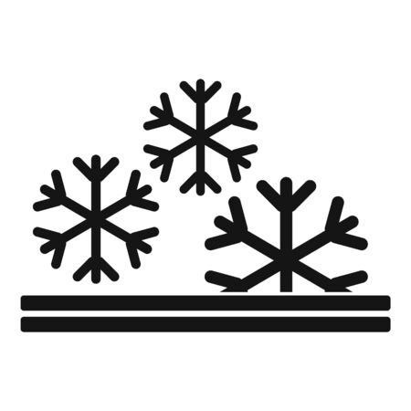 Winter feature icon. Simple illustration of winter feature vector icon for web design isolated on white background