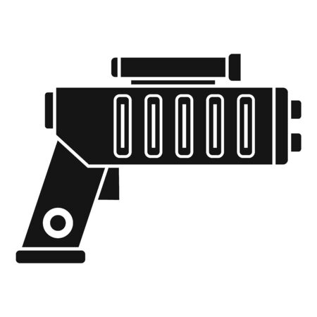 Weapon blaster icon. Simple illustration of weapon blaster vector icon for web design isolated on white background