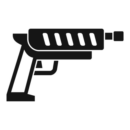 Shotgun blaster icon. Simple illustration of shotgun blaster vector icon for web design isolated on white background