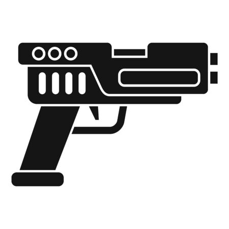 Automatic blaster icon. Simple illustration of automatic blaster vector icon for web design isolated on white background Ilustrace