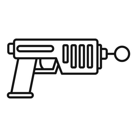 Blaster icon. Outline blaster vector icon for web design isolated on white background Vector Illustration
