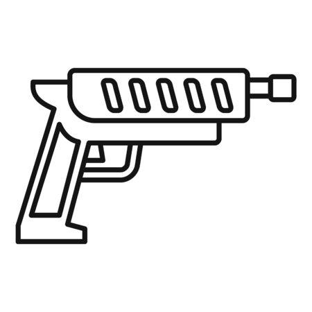 Shotgun blaster icon. Outline shotgun blaster vector icon for web design isolated on white background