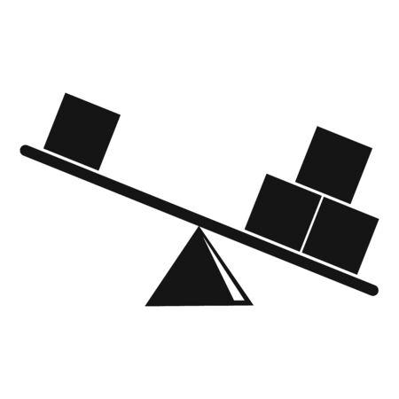 Physics balance icon, simple style
