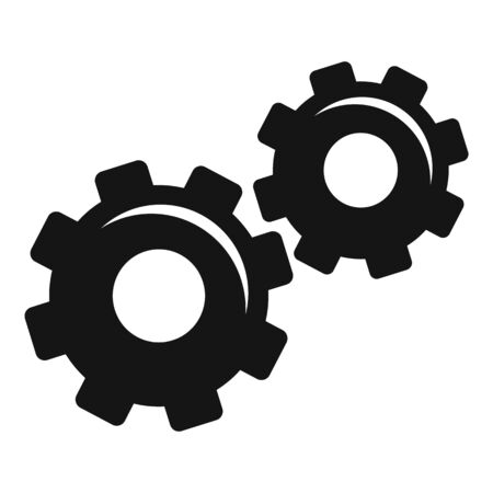 Physics gear system icon, simple style Illustration
