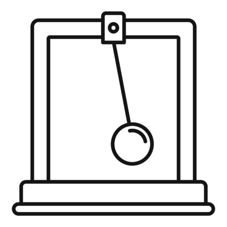 Gravitation stand ball icon, outline style 向量圖像