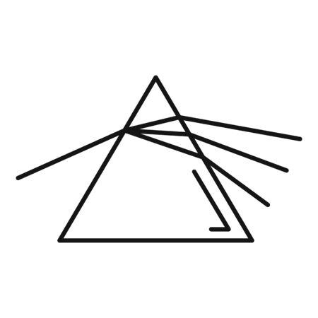 Pyramide-Lichtbrechungssymbol. Umriss Pyramide Lichtbrechung Vektorsymbol für Webdesign isoliert auf weißem Hintergrund