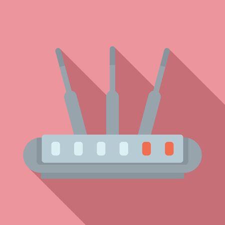 Icône de routeur sans fil, style plat