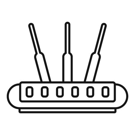 Wireless router icon, outline style 矢量图像