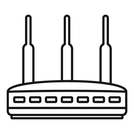 Modern router icon, outline style