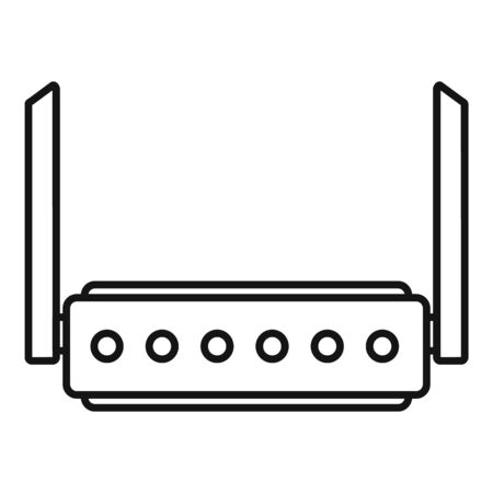 Broadband router icon, outline style 向量圖像