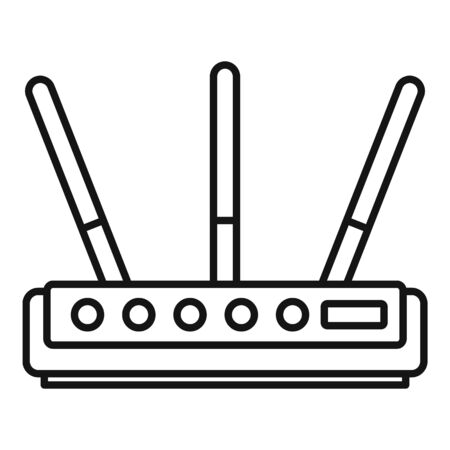 Internet router icon, outline style