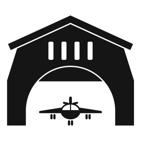 Airport hangar icon. Simple illustration of airport hangar vector icon for web design isolated on white background Ilustração