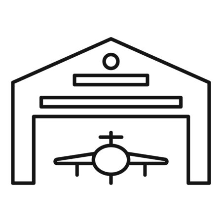 Hangar parking icon, outline style