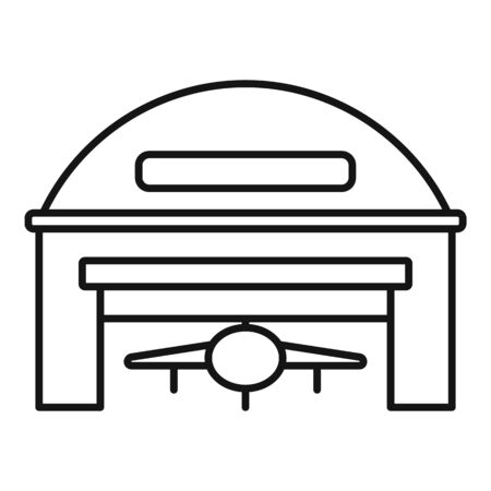 Storage hangar icon, outline style