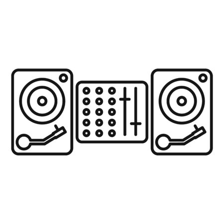 Dj equipment icon. Outline dj equipment vector icon for web design isolated on white background