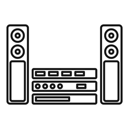 Sound system icon, outline style