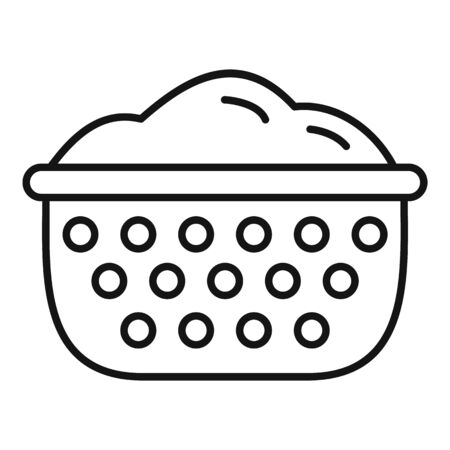 Sieve icon. Outline sieve vector icon for web design isolated on white background