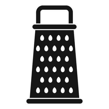 Kitchen grater icon, simple style Vetores